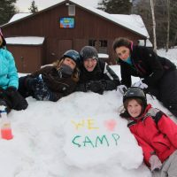 Snow Painting and Awesome Friends!